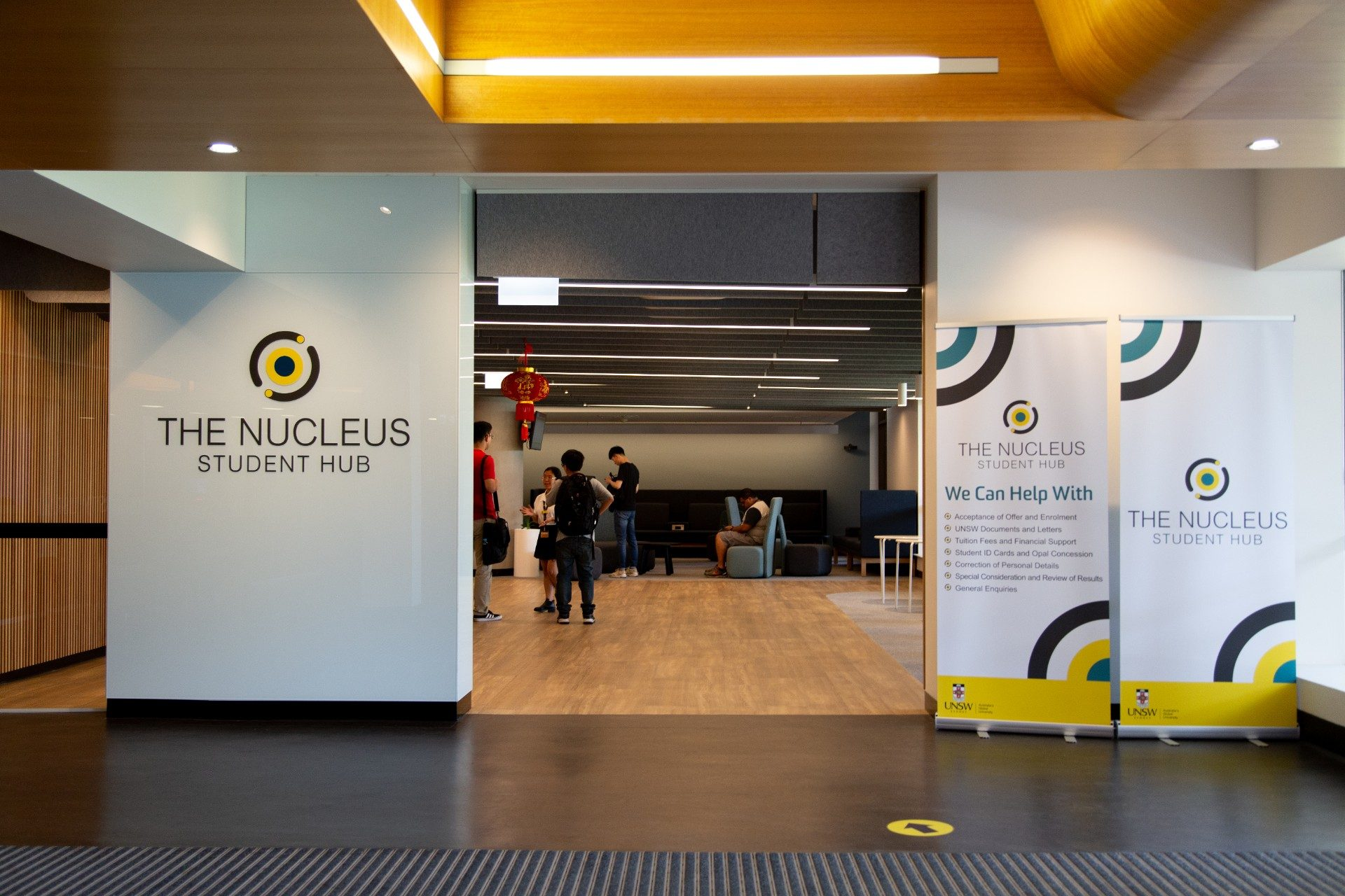 Interior of Nucleus Student Hub located on the UNSW Kensington campus