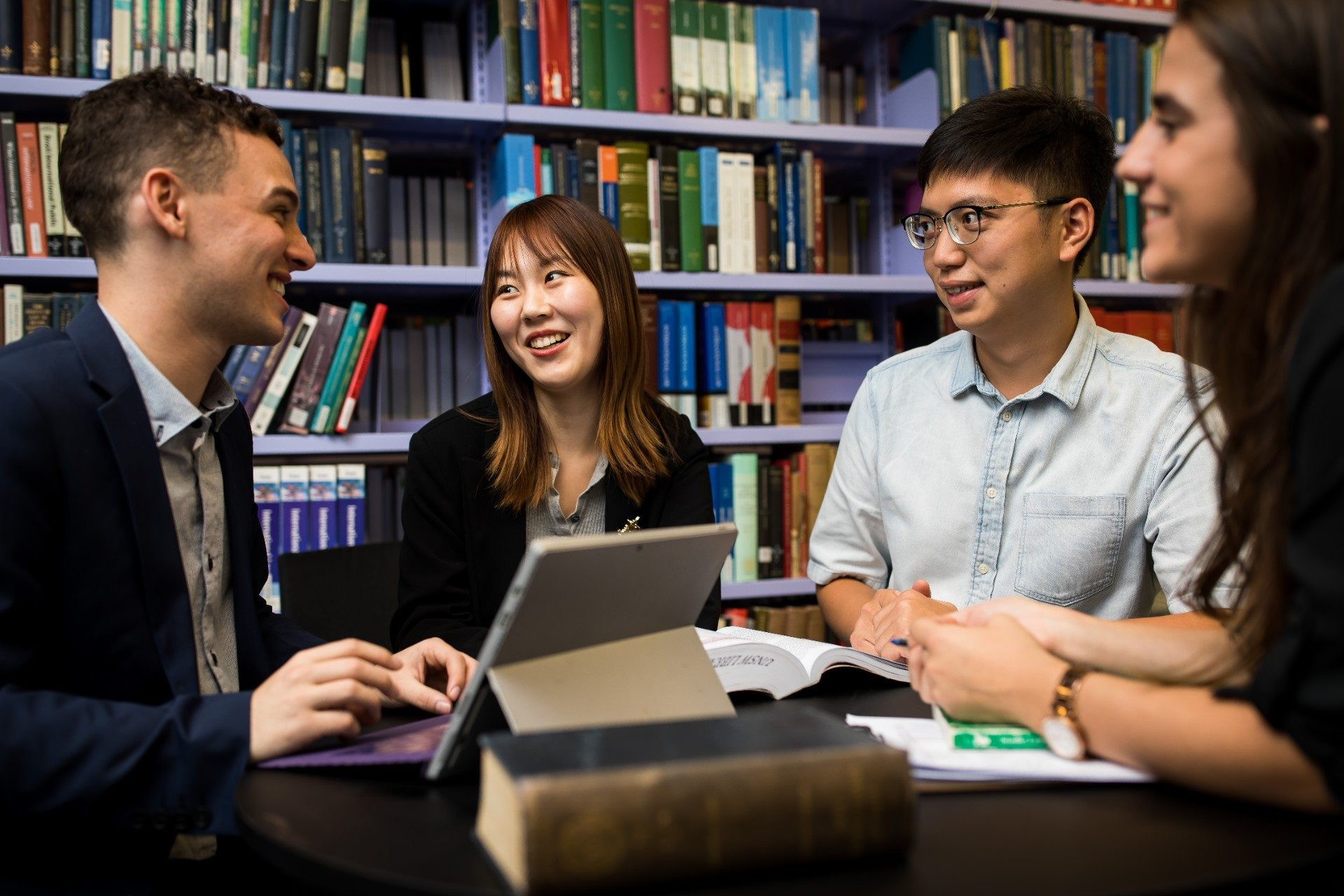 Postgraduate students studying to be a Juris Doctor